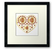 Gold ornament with heart Framed Print