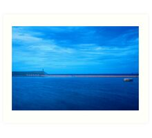 Newcastle Ocean Baths Art Print