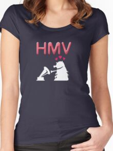 His Master's Voice Women's Fitted Scoop T-Shirt