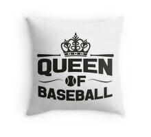 Queen of baseball Throw Pillow