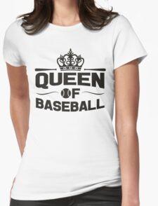 Queen of baseball Womens Fitted T-Shirt