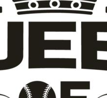 Queen of baseball Sticker
