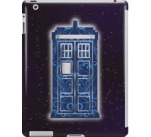 Blue Filigree TARDIS iPad Case/Skin