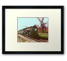 Train 558 Eastbound through Ashland Framed Print