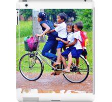Happy children in Cambodia iPad Case/Skin