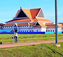 Cambodian girl on a bicycle by morariu