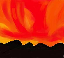 Blazing sky by Bulela