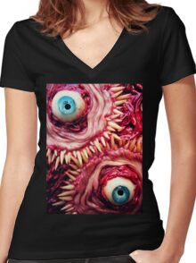 tooth beast Women's Fitted V-Neck T-Shirt