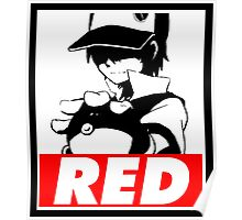 Red Obey Poster