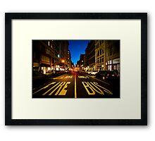 Standing on Fire Lane Framed Print