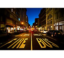 Standing on Fire Lane Photographic Print