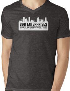 The Wire - B&B Enterprises - White Mens V-Neck T-Shirt