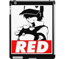 Red Obey iPad Case/Skin