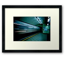 Gotham Train Framed Print