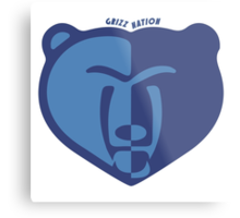 Grizz Nation Metal Print