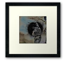 HARMONY - conté drawing with overlay Framed Print