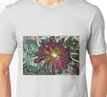 Black Aeonium Unisex T-Shirt