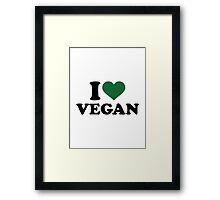 I love Vegan Framed Print