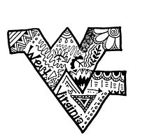 Hipster West Virginia University Outline by alexavec