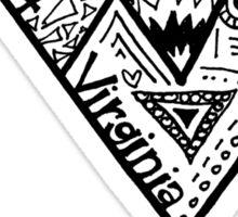 Hipster West Virginia University Outline Sticker