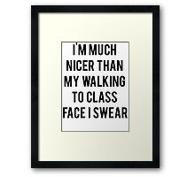Walking To Class Face Framed Print