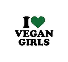 I love vegan girls Photographic Print