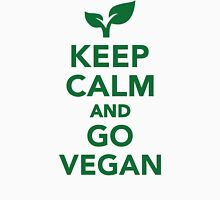 Keep calm and go vegan Womens Fitted T-Shirt