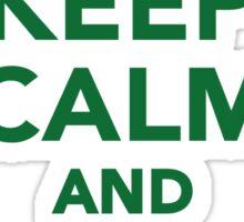 Keep calm and go vegan Sticker