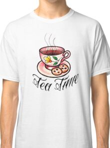 Tea Time Saucer and Cup Tattoo Design Classic T-Shirt