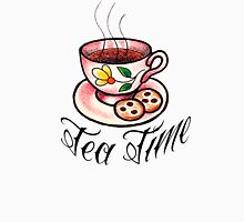 Tea Time Saucer and Cup Tattoo Design Unisex T-Shirt