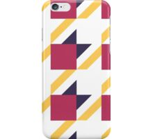 colored pattern houndstooth iPhone Case/Skin