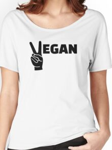 Vegan peace Women's Relaxed Fit T-Shirt