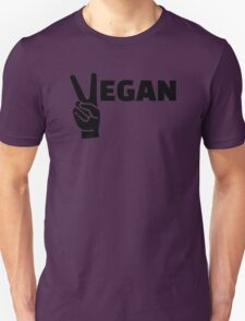 Vegan peace Unisex T-Shirt
