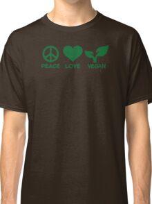 Peace love vegan Classic T-Shirt