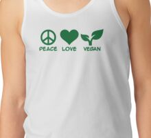 Peace love vegan Tank Top