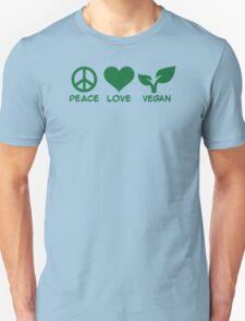 Peace love vegan Unisex T-Shirt