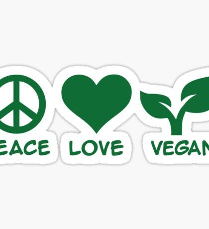 Peace love vegan Sticker