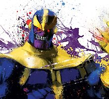 """""""Thanos"""" Splatter Art by KYCollectibles"""