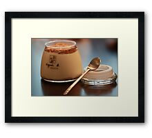 crackers pudding Framed Print
