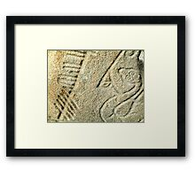 Brandsbutt Pictish stone Framed Print