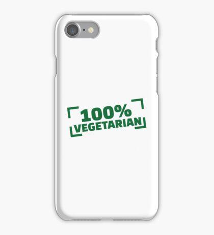 100% Vegetarian iPhone Case/Skin