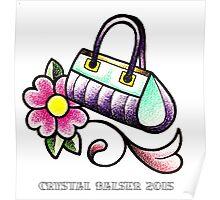 Retro Clutch Purse Hand Bag Poster