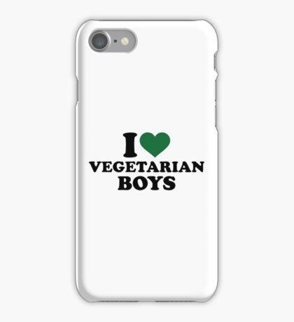 I love vegetarian boys iPhone Case/Skin