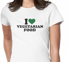 I love vegetarian food Womens Fitted T-Shirt
