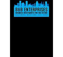 The Wire - B&B Enterprises - Blue Photographic Print