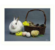Easter basket 1 Art Print
