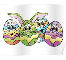 Easter Eggs Cartoon Poster