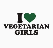 I love vegetarian girls Kids Tee