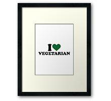 I love vegetarian Framed Print