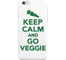 Keep calm and go veggie iPhone Case/Skin